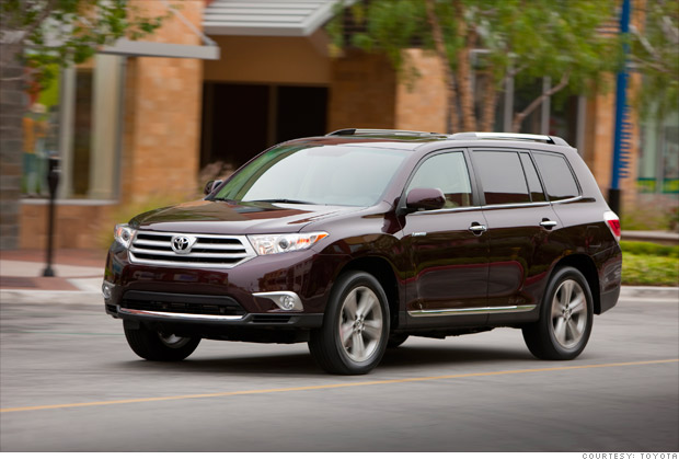 consumer reports  reliable cars mid sized suv toyota highlander  cyl  cnnmoney