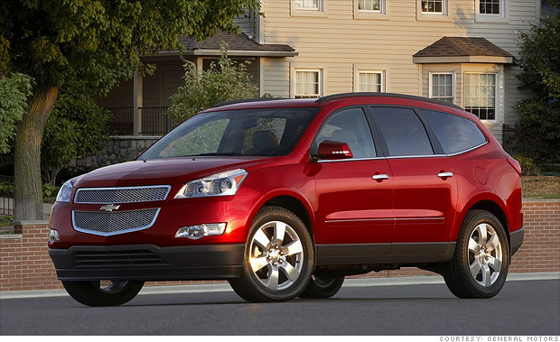 best resale value cars full size suv chevrolet traverse 3 cnnmoney. Black Bedroom Furniture Sets. Home Design Ideas