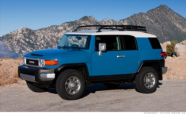 best resale value cars mid size suv toyota fj cruiser 2 cnnmoney. Black Bedroom Furniture Sets. Home Design Ideas