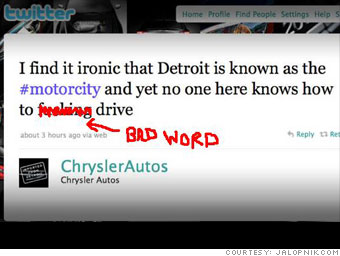 Chrysler cusses out its hometown drivers