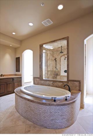 The marble bath