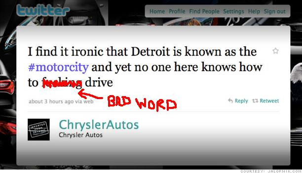Chrysler drops the F-bomb