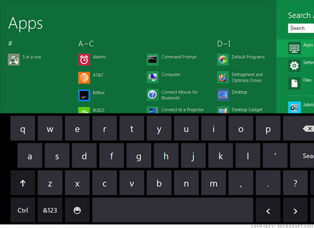 Apps and keyboard