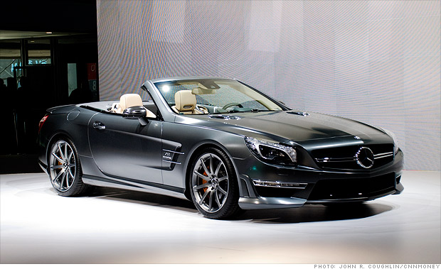 cool cars from the new york auto show mercedes benz sl65 amg 3 cnnmoney. Black Bedroom Furniture Sets. Home Design Ideas