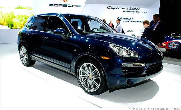 cool cars from the new york auto show porsche cayenne diesel 8 cnnmoney. Black Bedroom Furniture Sets. Home Design Ideas