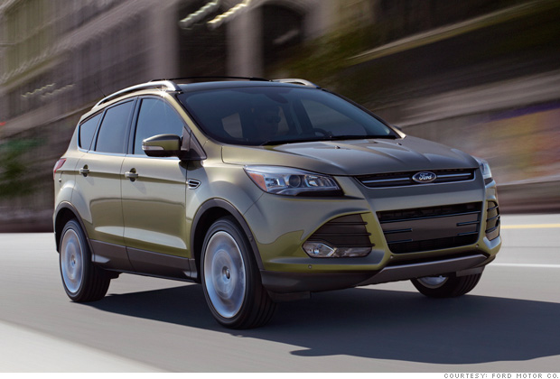 detroit ready for a fuel efficient future suv ford escape 2 cnnmoney. Black Bedroom Furniture Sets. Home Design Ideas