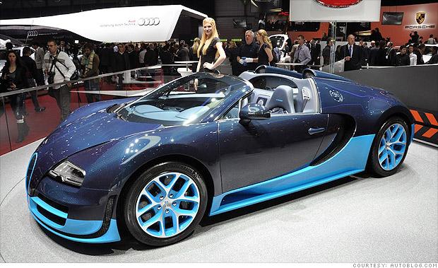 13 Cool Cars From The Geneva Motor Show Bugatti Veyron 16 4 Grand