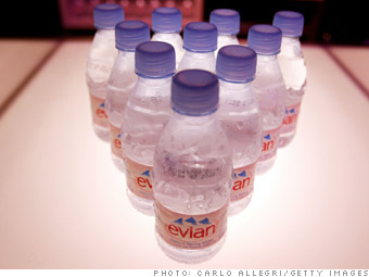 $1,000 worth of Evian water
