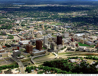 Most affordable u s cities to buy a home akron ohio 9 for Usa motors cleveland ohio