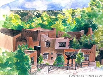 Sunny climes: Santa Fe, N.M.
