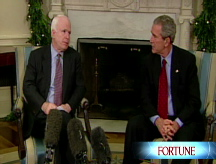 McCain's delicate balancing act