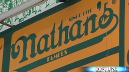 Supersizing Nathan's hot dogs