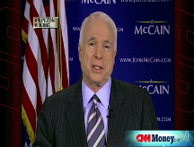 McCain defends economic policy