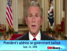 Bush: Entire economy in danger