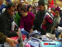 Holiday shoppers on thin ice